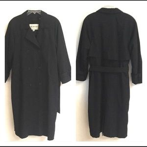 Towne by London Fog black trench raincoat 10*